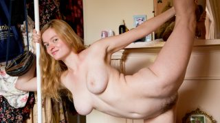 Teen redhead crotchless